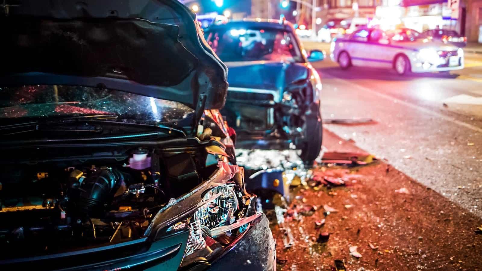 Roadside Car Crash