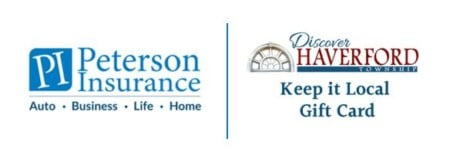 Peterson Insurance & Discover Haverford Logos